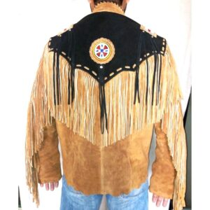 brown-western-suede-leather-jacket-fringe-eagle-beads-patches-bones