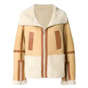 camel-brown-oversized-zipped-aviator-fur-leather-jacket