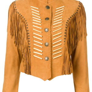 camel-colour-suede-fringed-leather-jacket