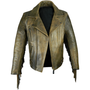 distressed-antique-brown-fringed-leather-jacket