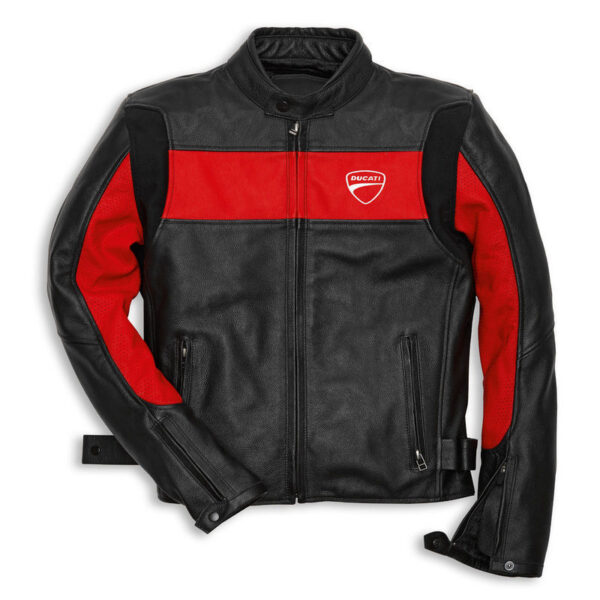 ducati-red-black-leather-motorcycle-jacket