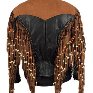 elvis-presley-black-brown-fringed-leather-jacket