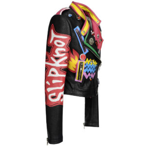 graffiti-rivet-beading-pu-leather-biker-jacket
