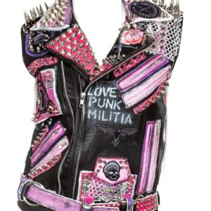 hand-painted-punk-studded-leather-vest