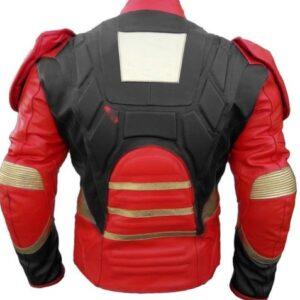 Iron Man Motorcycle Sport Leather Motorbike Racing Leather Jacket