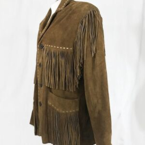 native-american-brown-buckskin-leather-fringed-jacket