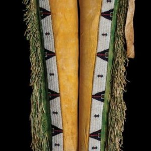 native-american-buckskin-tan-suede-leather-fringes-beaded-chaps