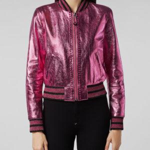 pink-bomber-studded-biker-jacket