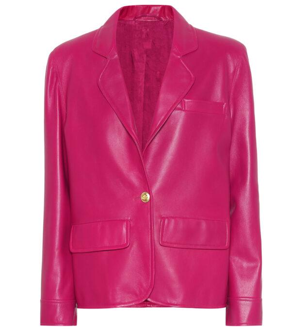pink-lambskin-leather-blazer-coat