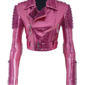 pink-metallic-studded-biker-jacket