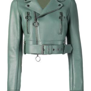 green-lambskin-cropped-leather-biker-jacket