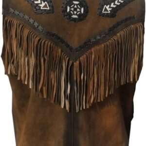 western-leather-vest-with-fringes