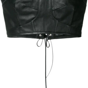 Black Leather Bustier Cropped