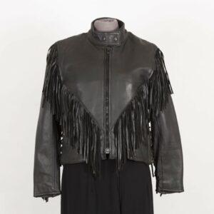 black-cropped-leather-fringe-jacket