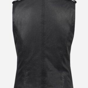 black-genuine-leather-biker-vest