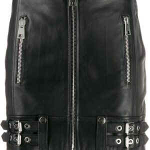 black-leather-buckle-detail-biker-skirt