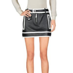black-leather-contrast-white-pippin-mini-skirt