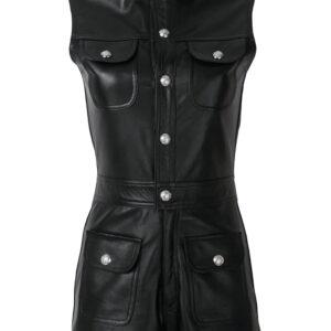 black-leather-playsuit