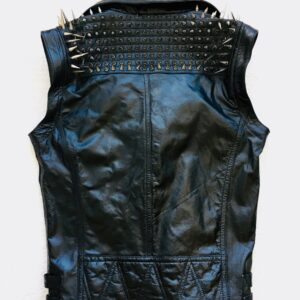 black-punk-silver-long-spiked-studded-leather-buttons-up-vest