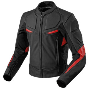 black-red-motorcycle-front-zip-real-leather-safety-pad-jacket