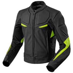 black-yellow-motorcycle-front-zipper-genuine-leather-safety-pads-jacket