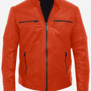cool-mens-orange-leather-jacket