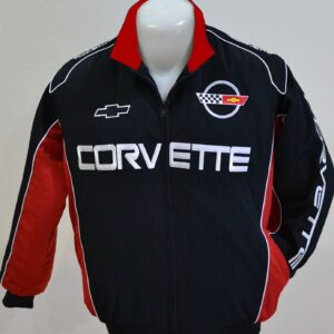corvette-c4-wind-breaker-black-red-jacket