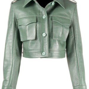 crocodile-effect-cropped-leather-jacket
