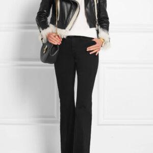 cropped-shearling-trimmed-leather-biker-jacket
