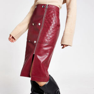 dark-red-quilted-leather-midi-skirt