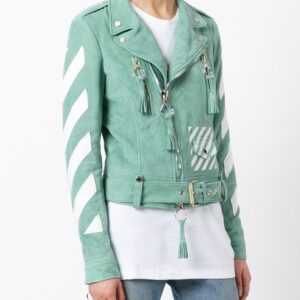 diagonal-printed-green-biker-leather-jacket
