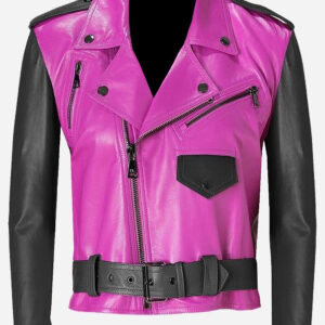 double-rider-pink-black-leather-biker-jacket