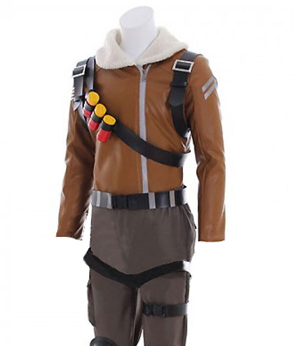 Fortnite Rapto Gaming Brown Jacket