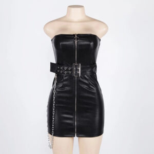 gothic-pu-leather-zip-up-chain-top