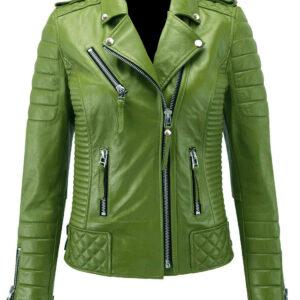 green-genuine-lambskin-leather-biker-jacket