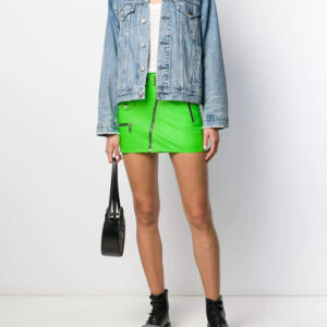 green-leather-biker-mini-skirt