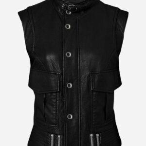 handmade-cool-black-leather-biker-vest