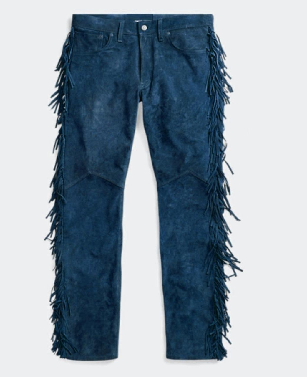mens-native-american-buckskin-blue-goat-suede-fringes-pant