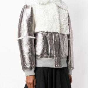 metallic-bomber-shearling-fur-leather-jacket
