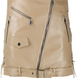 nude-beige-leather-biker-mini-skirt