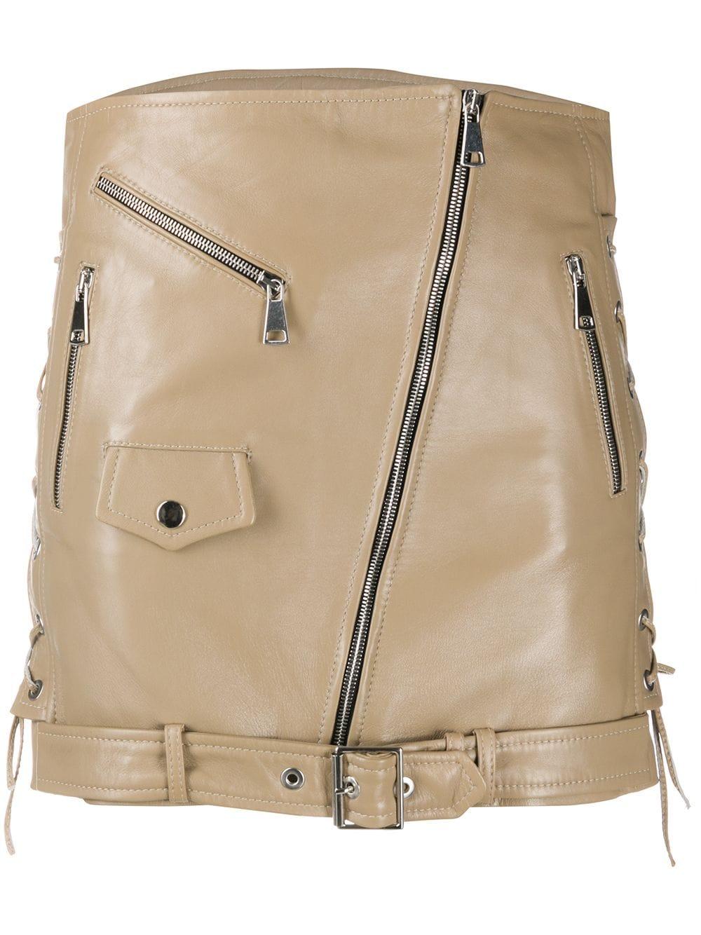 nude-beige-leather-biker-mini-skirt