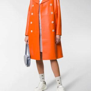 orange-lambskin-double-breasted-leather-coat