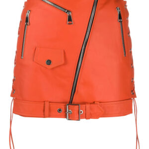 orange-leather-biker-mini-skirt