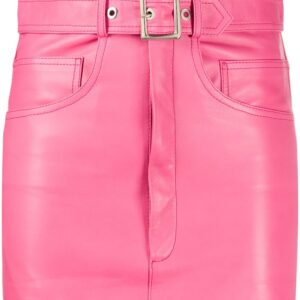 pink-leather-mini-skirt