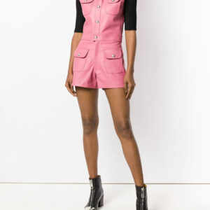 pink-leather-playsuit