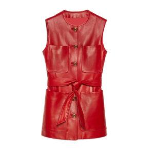 plonge-leather-long-vest-in-red