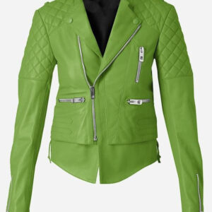quilted-women-green-leather-jacket