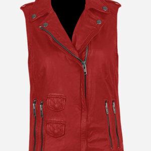 red-genuine-leather-biker-vest