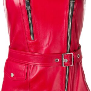 red-zipped-leather-biker-top