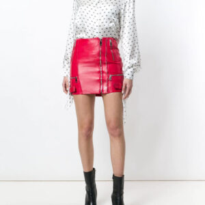 red-zipped-leather-mini-skirt